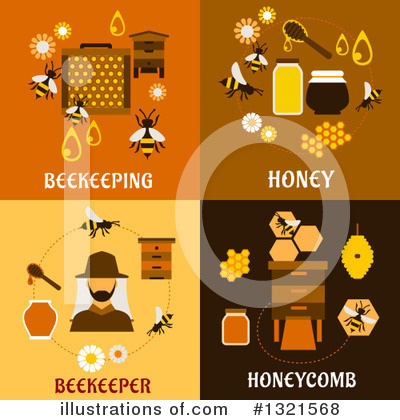 Bee Clipart #1321568 by Vector Tradition SM