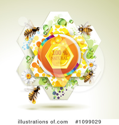 Royalty-Free (RF) Bees Clipart Illustration by merlinul - Stock Sample #1099029