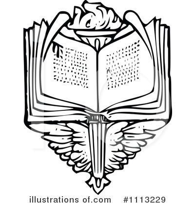 Open Book Clipart #1113229 by Prawny Vintage