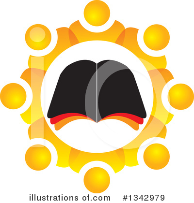 Open Book Clipart #1342979 by ColorMagic