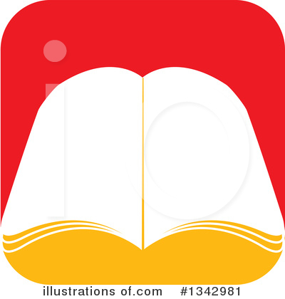 Open Book Clipart #1342981 by ColorMagic