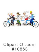Bicycle Clipart #10863 by Spanky Art