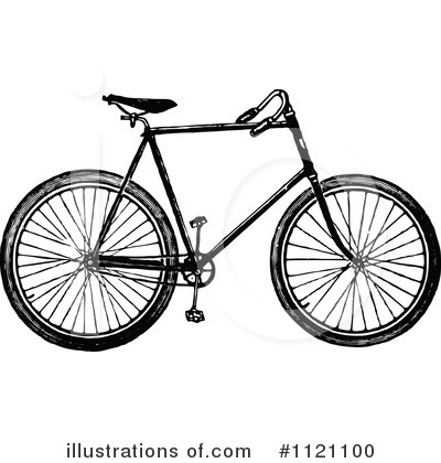 Bicycle Clipart #1121100 by Prawny Vintage