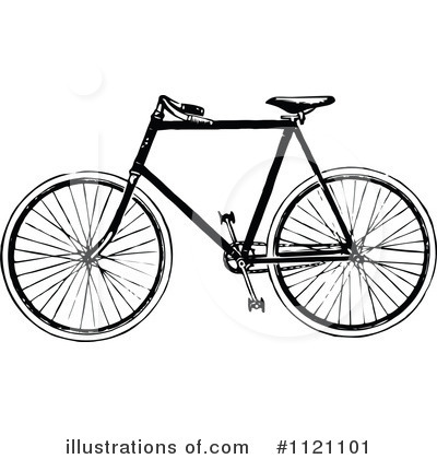 Bicycle Clipart #1121101 by Prawny Vintage