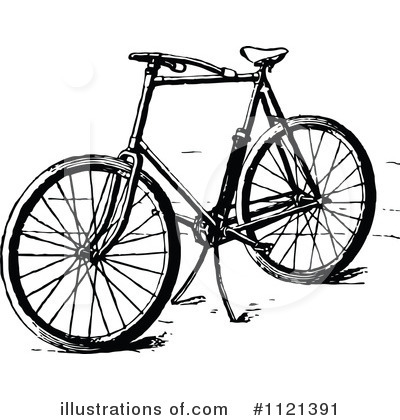 Bicycle Clipart #1121391 by Prawny Vintage
