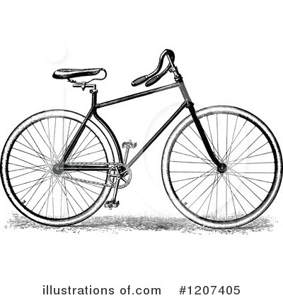 Bicycle Clipart #1207405 by Prawny Vintage