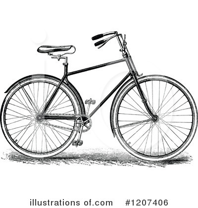 Royalty-Free (RF) Bicycle Clipart Illustration by Prawny Vintage - Stock Sample #1207406