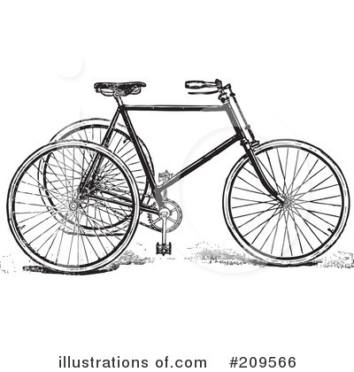 Royalty-Free (RF) Bicycle Clipart Illustration by BestVector - Stock Sample #209566