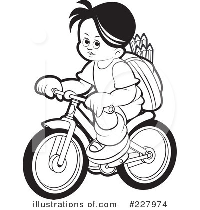 Bicycle Clipart #227974 - Illustration by Lal Perera
