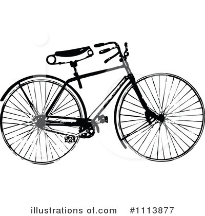 Bicycle Clipart #1113877 by Prawny Vintage