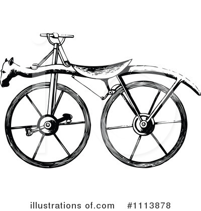 Bicycle Clipart #1113878 by Prawny Vintage