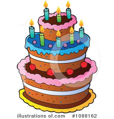 Birthday Cake Clipart 1088162 Illustration by visekart