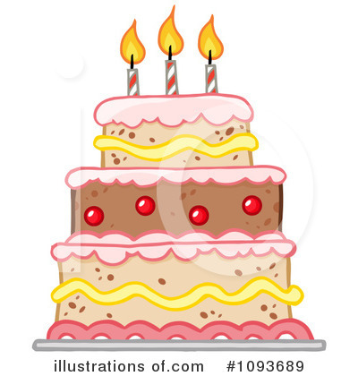 Royalty Free RF Birthday Cake Clipart Illustration By Hit Toon