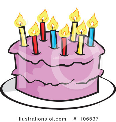 Birthday Cake Clipart 1106537 Illustration by Cartoon Solutions