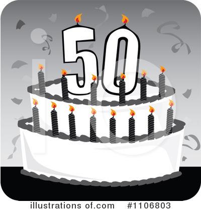 Birthday Cake Clipart #1106803 - Illustration by Amanda Kate