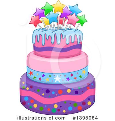 Cool Birthday Cake Clipart 1395064 Illustration By Liron Peer Birthday Cards Printable Riciscafe Filternl
