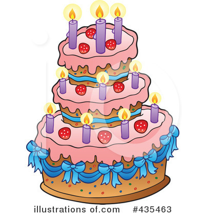 Birthday Cake Clipart 435463 Illustration by visekart