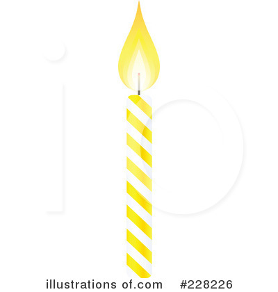 Birthday Candle Clipart 228226 Illustration By Tonis Pan