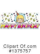 Birthday Girl Clipart #1375757 by Cory Thoman