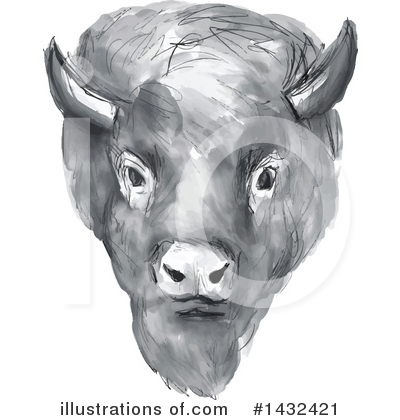 Bison Clipart #1432421 - Illustration by patrimonio