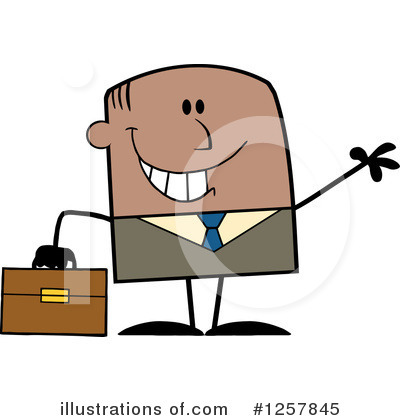 Businessman Clipart #1257845 by Hit Toon