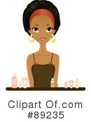 Black Woman Clipart #89235 by Melisende Vector