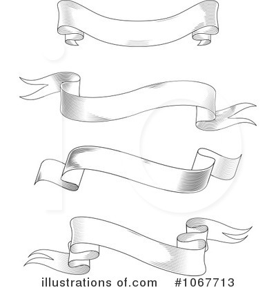 Blank Banner Clipart #1067713 - Illustration by Vector Tradition SM