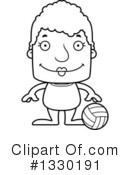Block Headed Senior Woman Clipart #1330191 by Cory Thoman