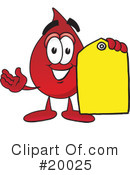 Blood Drop Character Clipart #20025 by Toons4Biz