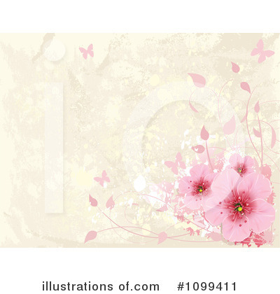 Royalty-Free (RF) Blossoms Clipart Illustration by Pushkin - Stock Sample #1099411