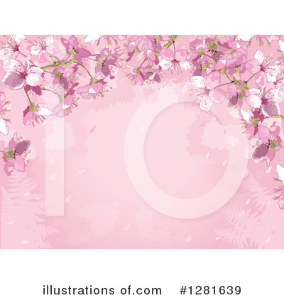 Cherry Blossoms Clipart #1281639 by Pushkin