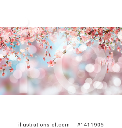 Cherry Blossoms Clipart #1411905 by KJ Pargeter