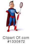 Blue And Red Male Super Hero Clipart #1330872 by Julos