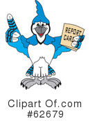 Blue Jay Mascot Clipart #62679 by Toons4Biz