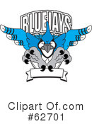 Blue Jay Mascot Clipart #62701 by Toons4Biz