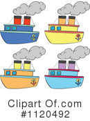 Steamboat Clipart #1400936 - Illustration by patrimonio