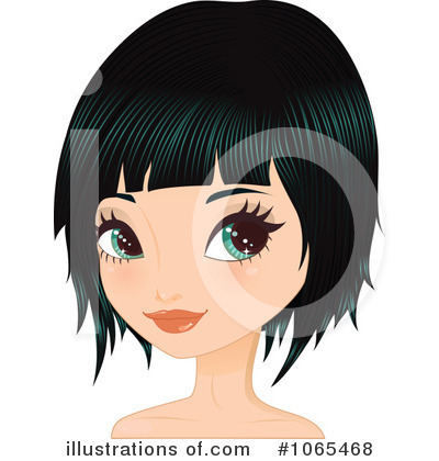 Bob Hairstyle Clipart Illustration By Melisende Vector - Anime bob hairstyle