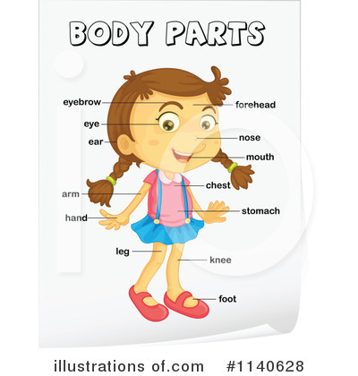 Body Parts Clipart #1140628 - Illustration by colematt