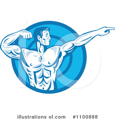 Bodybuilder Clipart #1100888 by patrimonio