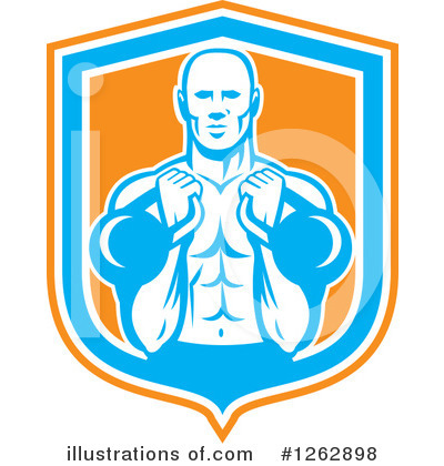 Weightlifting Clipart #1262898 by patrimonio