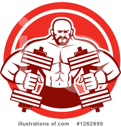 Bodybuilder Clipart #1262899 by patrimonio