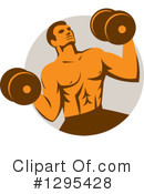 Bodybuilder Clipart #1295428 by patrimonio