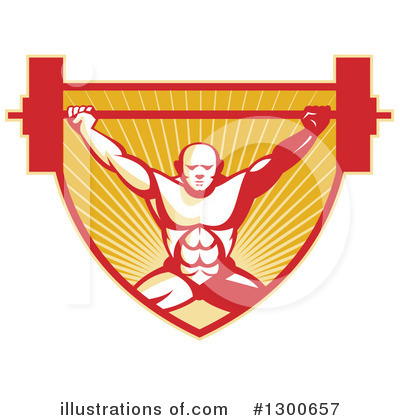 Weightlifting Clipart #1300657 by patrimonio