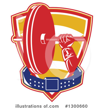 Royalty-Free (RF) Bodybuilder Clipart Illustration by patrimonio - Stock Sample #1300660