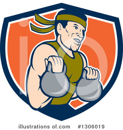 Bodybuilder Clipart #1306019 by patrimonio