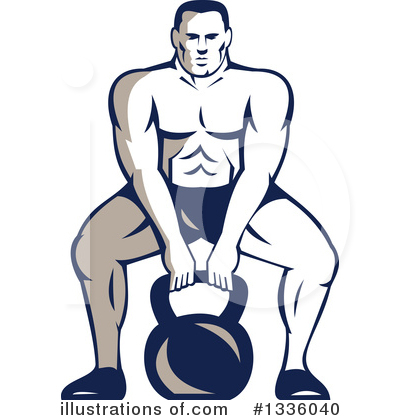 Weightlifting Clipart #1336040 by patrimonio