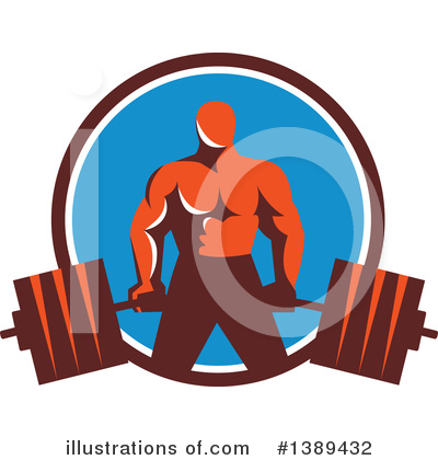Weightlifting Clipart #1389432 by patrimonio