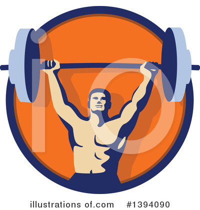 Weightlifting Clipart #1394090 by patrimonio
