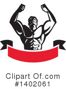 Bodybuilder Clipart #1402061 by patrimonio