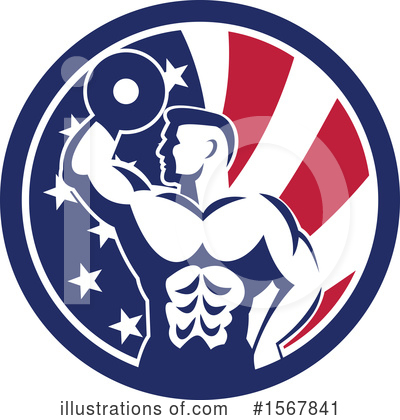 Royalty-Free (RF) Bodybuilder Clipart Illustration by patrimonio - Stock Sample #1567841